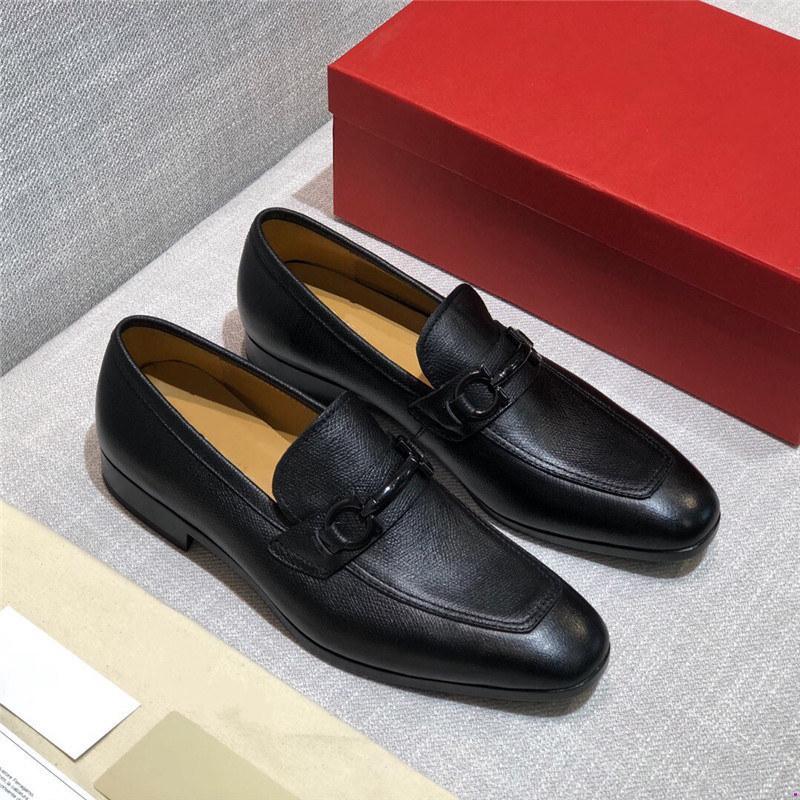 Top Qualité Homme Single Single Strap Strap Strap Strap Designers Chaussures à la main en cuir importé Busines Office Chaussures officielles Plus Taille Homme Chaussures