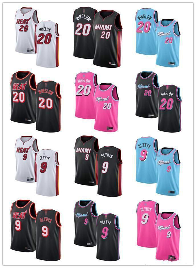 NCAA Mens Womens YouthMiami.Calor20 Justise.Winslow 9 Kelly.Olynyk vermelho preto branco azul rosa jerseys