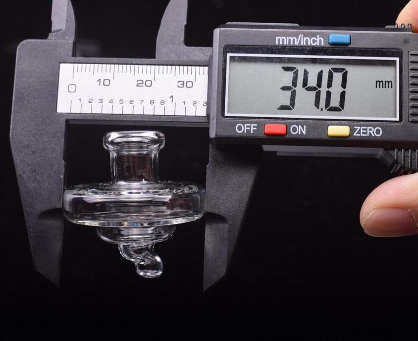 Nouveau Capuchon de verre universel Cap 35mm OD de style UFO de style de style UFO pour les bangs en verre Bangs de quartz BANGER Nails DAB Huile Plateaux