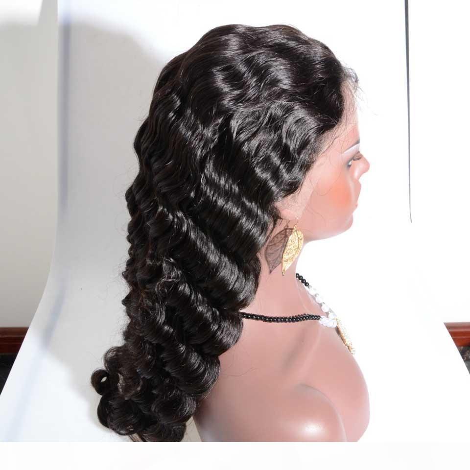 Heiß lange mode brasilianische natürliche welle menschliches haar volle spitze perücken menschliches haar glueless frontspitzeperücke für africanamerikaner frei schiff