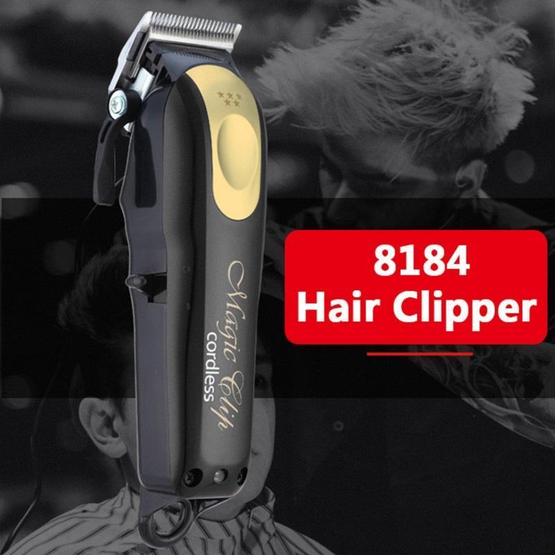 8148 ماجيك اللاسلكي المعادن الشعر المقص الكهربائية الحلاقة الرجال الصلب رئيس ماكينة حلاقة الشعر المتقلب الذهب الأحمر شحن مجاني