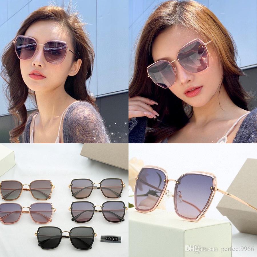 Designer Occhiali da sole di lusso per uomo Donne D Fashion Big Frame Occhiali da sole UV400 Top Quality des Lunettes de Soleil