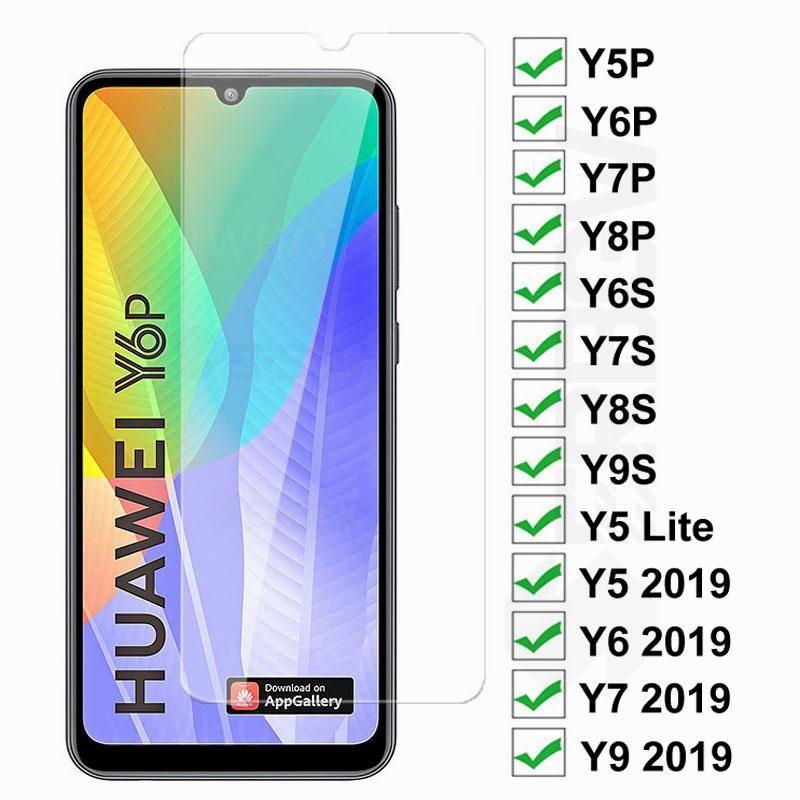 9D proteção de vidro para huawei y5p y6p y7p y8p y6s y7s y8s y9s protetor de tela y5 y6 y7 pro y9 prime 2019 filme de vidro temperado
