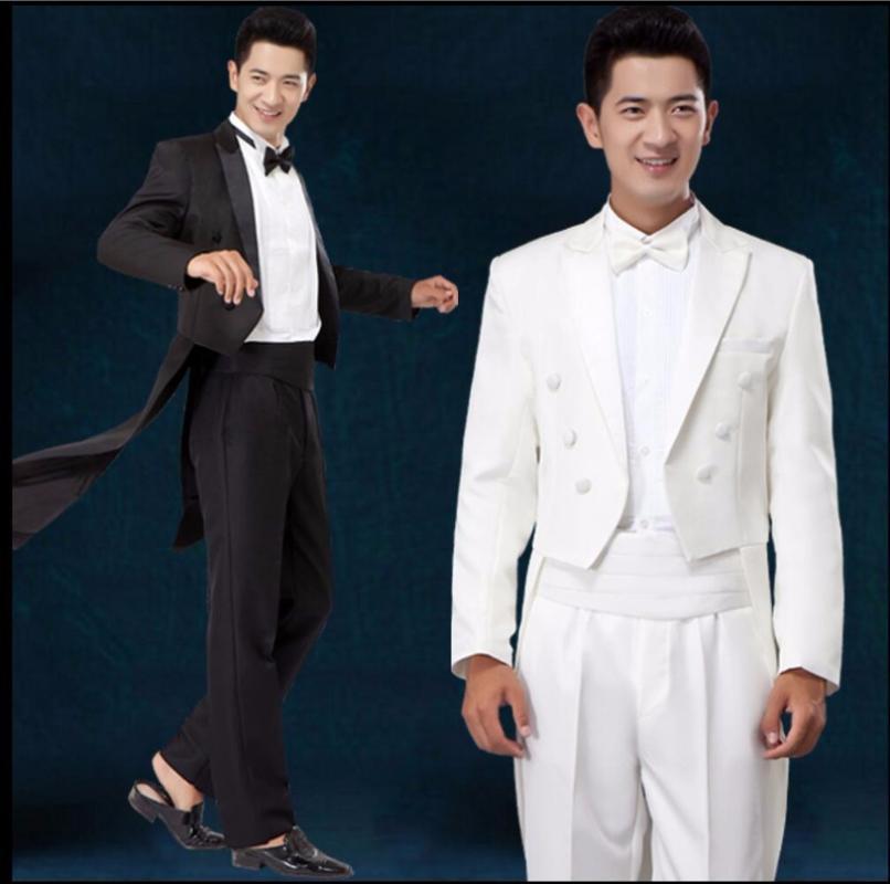 Costumes hommes blazers veste + pantalon blanc smoking smoking robe de mariée ensembles de costume slim