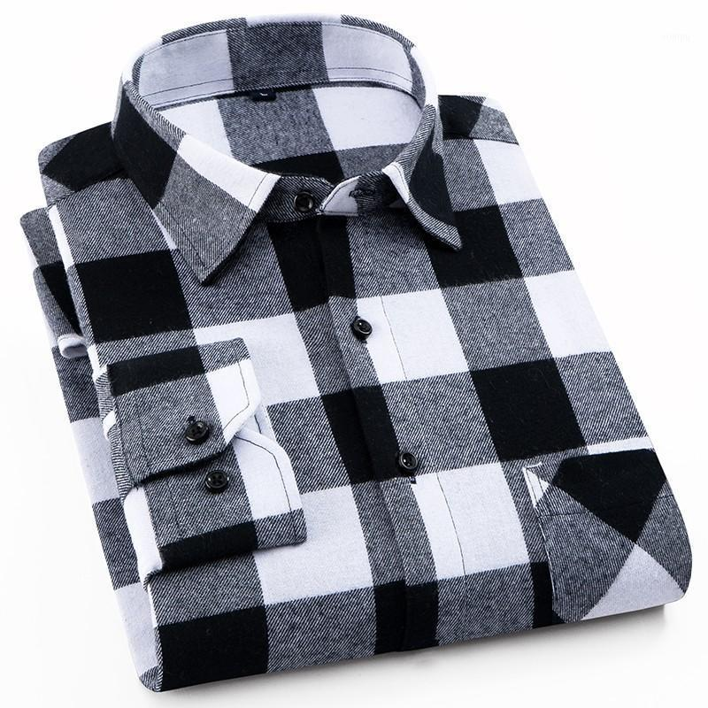 Blusa franela camisa a cuadros hombres algodón 2021 primavera otoño masculino casual manga larga camisa de manga grande más tamaño de alta calidad ropa de hombre caliente