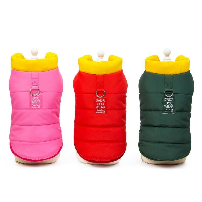 Luminoso inverno caldo cappotto giacca per Cani Gatti cucciolo Hoodie Abbigliamento Outfit 5 colori