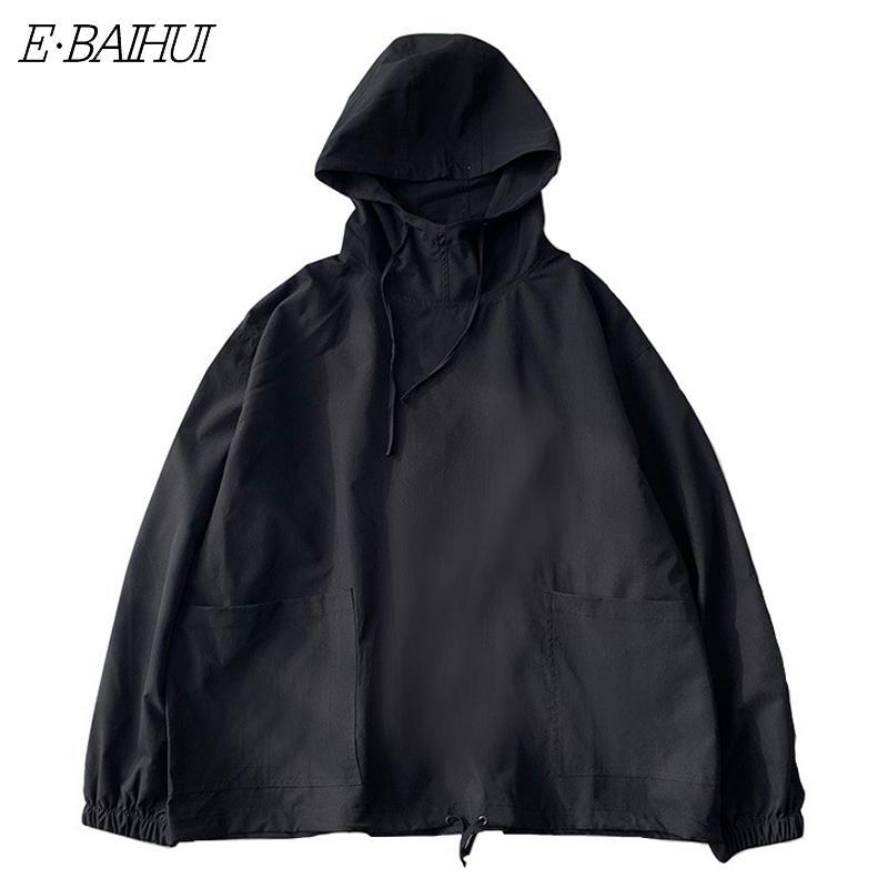E-BAIHUI 2020 Spring Tooling Hooded Men's Korean Style Trendy Loose Top Men's Coat Q083102