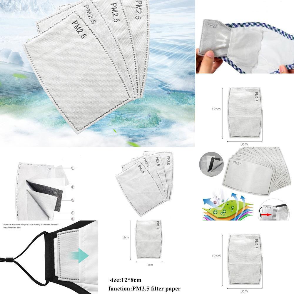 Stock Papierschichten PM2.5 5 Filter ersetzt in Gesichtsmund Maske Anti Staub Aktiviert Kohlenstoffmaske Filter Papier Gesundheit Pflege Mascarillas1