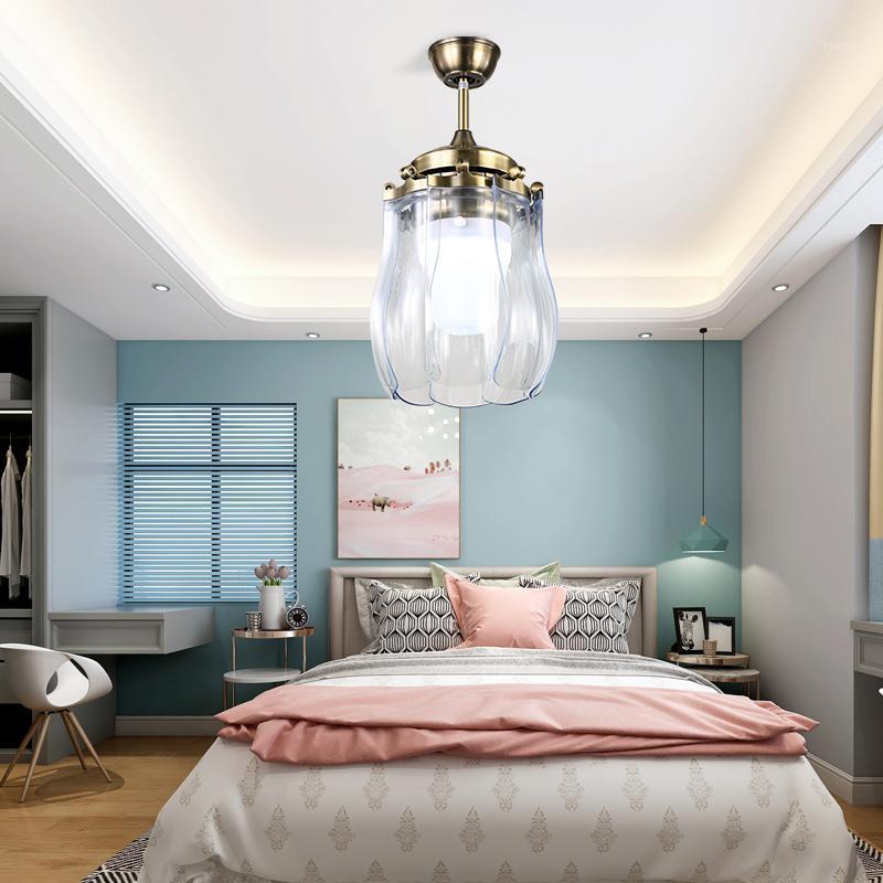 Minimalisim Wandhaushalt Hängende Licht LED moderne Deckenventilator-Beleuchtungen Unsichtbares Wohnzimmer Esszimmer-Fan-Lampe Falten1