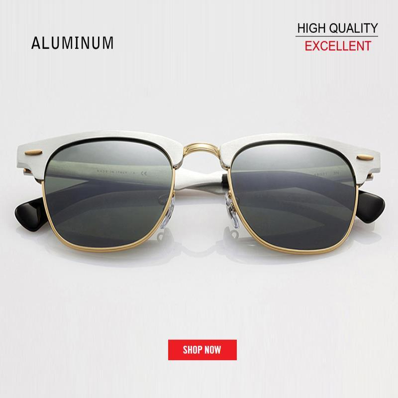 Óculos de sol de qualidade superior moda retro clube mulheres óculos elegante master homens 2019 alumínio fábrica RD3507 estrela mercury sol sunglass gaf woko