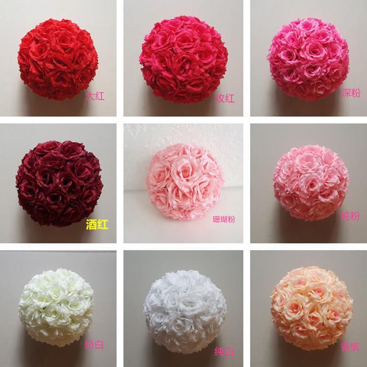 """Новые 6 """"(15 см) Шелковый целовать розовые цветы шар продажа для свадьбы украшения вы выбирайте цвет искусственные декоративные цветочные шарики"""