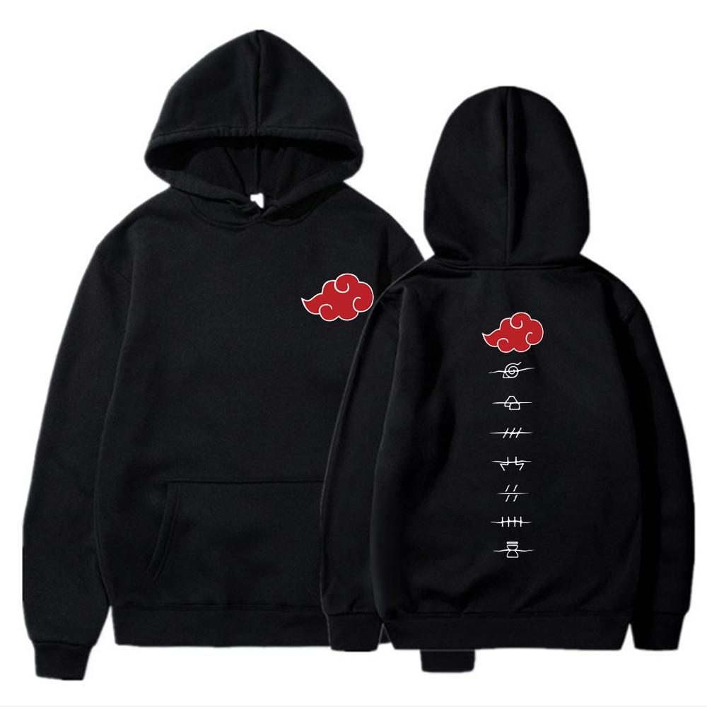 2020 Anime Naruto Cosplay Jackets Clothes Costumes Men Hoodies Sweatshirts Uzumaki Akatsuki Itachi Uhachi Streetswear Hoodie TopX1121
