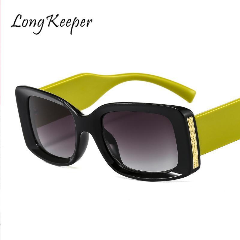 Longkeeper rectangular gafas de sol mujeres diseñador macho gafas de sol punk vintage gafas hombres retro oculos feminino