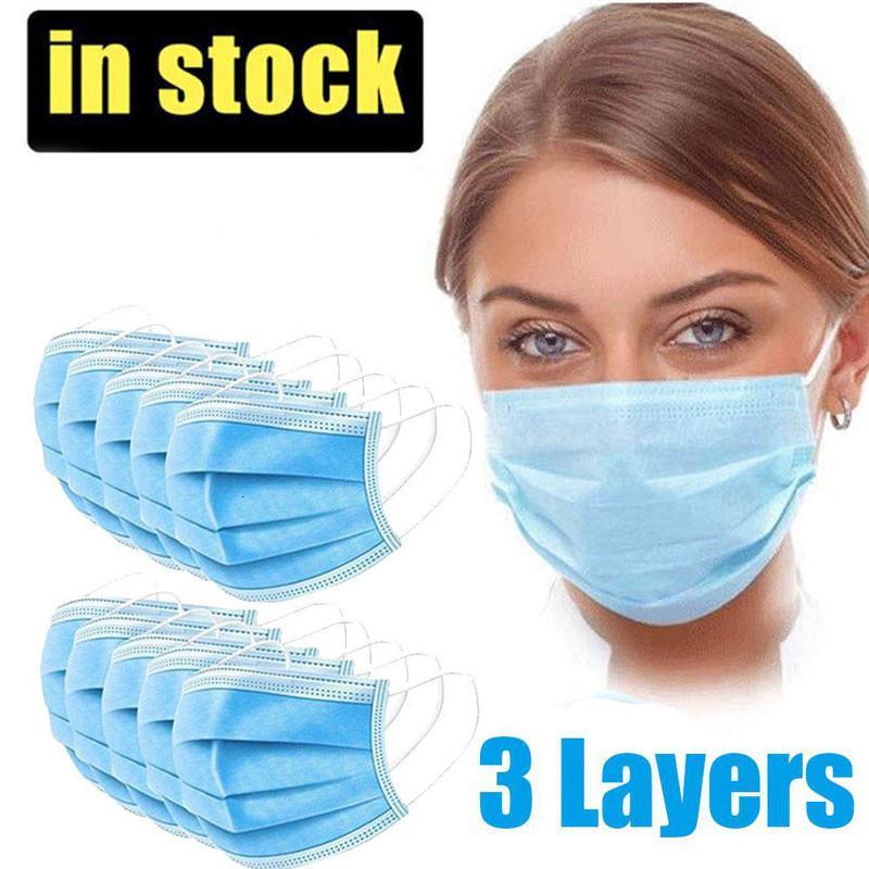 Buona qualità! Maschere monouso antipolvere non tessuto maschera di sicurezza naso maschere protettive protettive maschere morbide per adulti in magazzino