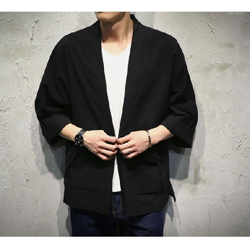 Мужские жилеты в японском стиле кимоно мужчины женщины кардиган китайский дракон традиционная одежда азиатская одежда пальто куртка Y1