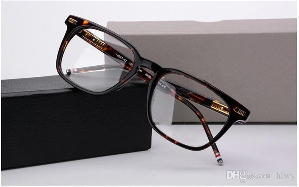 Hombres Mujeres Optical Acetate Prescripción Espectáculo Cuadrado TB402 TB-402 Myopia Gafas de ojos Marco Gafas TB-402A Eyewear