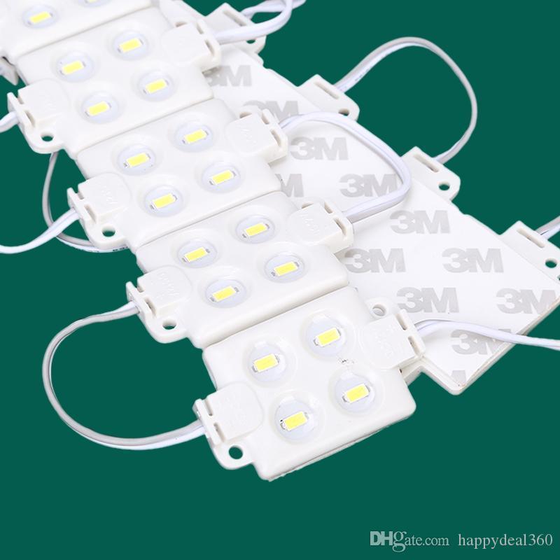 5730 5630 4LEDS-Spritzguss-LED-Modul, DC12V, Kühlweiß, wasserdicht IP65 für Werbeboard-Blister-Wort