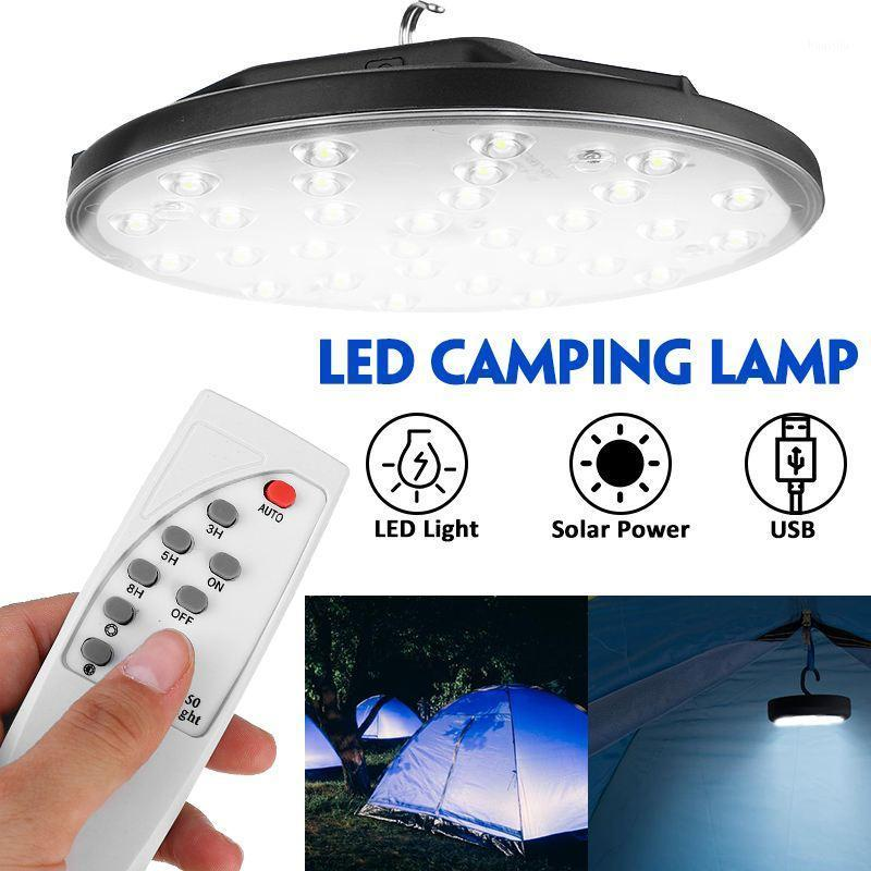 30 LEDs Solar Camping Tent Light USB Recarregável Ao Ar Livre Ultra Brilhante Lâmpada Noite Portátil Noite de Emergência Portátil para Casa Camping1