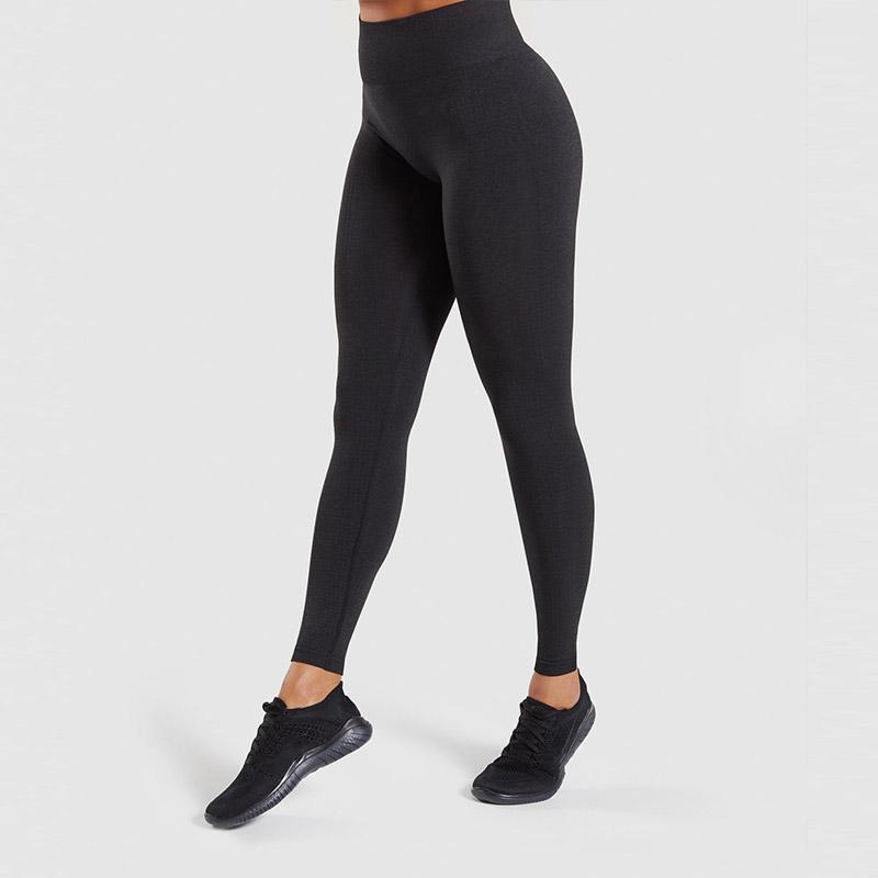 Gym Leggings Super-Elastic Yoga Pants Women's Seamless High Waist Running Quick-drying Fitness Sports Breathable Tight Black