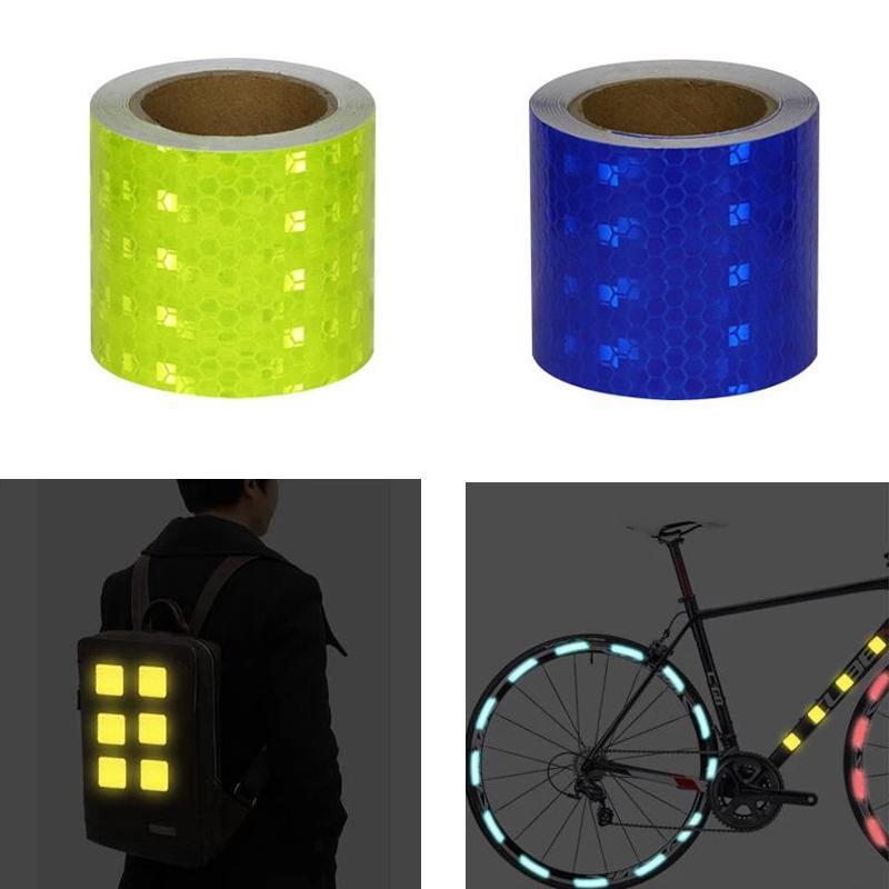 5cm * 3m Auto Safety Mark Avvertimento nastro riflettente Strip Strip Riflettore Pellicola per auto Bicycle Exterior Decoration Accessori