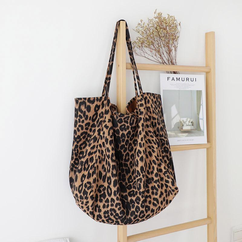 New Woman Leopard Tote Sacola Vintage Um ombro sacos de ombro mulheres bolsas moda 2020 casual q1118