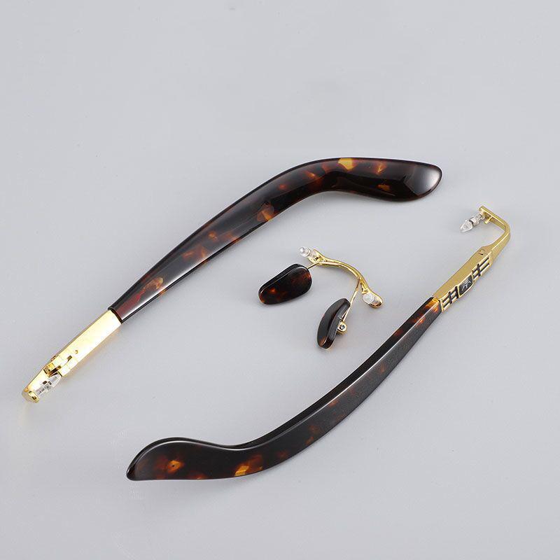 Vazrobe optische gläser rahmen männer randlose brillen framer männlich gold grau metall retro vintage marke nicht verblassen schauspieler