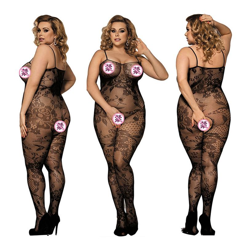 Mujeres sexy Styling Plus Size XL Erotic Erotic Groin Groin Socks Fishnet
