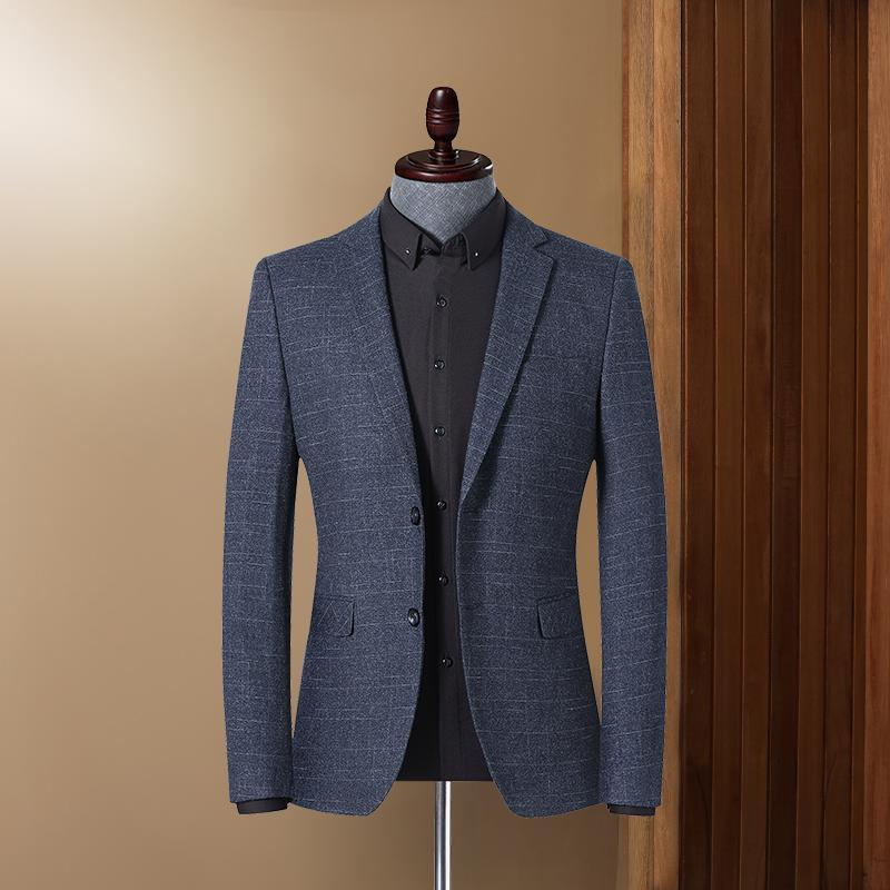 Мужские костюмы Blazers Fashion Slim Business Повседневная Официальная Носите Сетка Одно Кнопка Сплошное Цвет Смокинг Свадебное платье