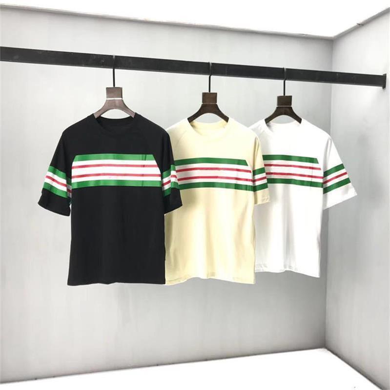 2021 Мода 100% хлопок Мужские футболки Летние печать мультфильм футболка Женщины Дамы с короткими рукавами Круглая шея футболки Новый человек T-рубашки H4