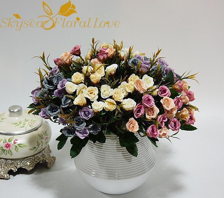 Декоративные цветы венки искусственные розовые свадебные фальшивые DIY шелк для домашней партии украшения