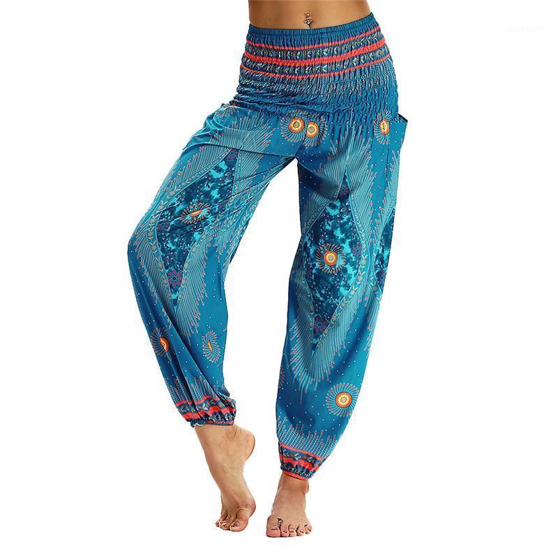 Осенние женщины сексуальные талии стиль талии Йога брюки широкие брюки ноги плюс размер1