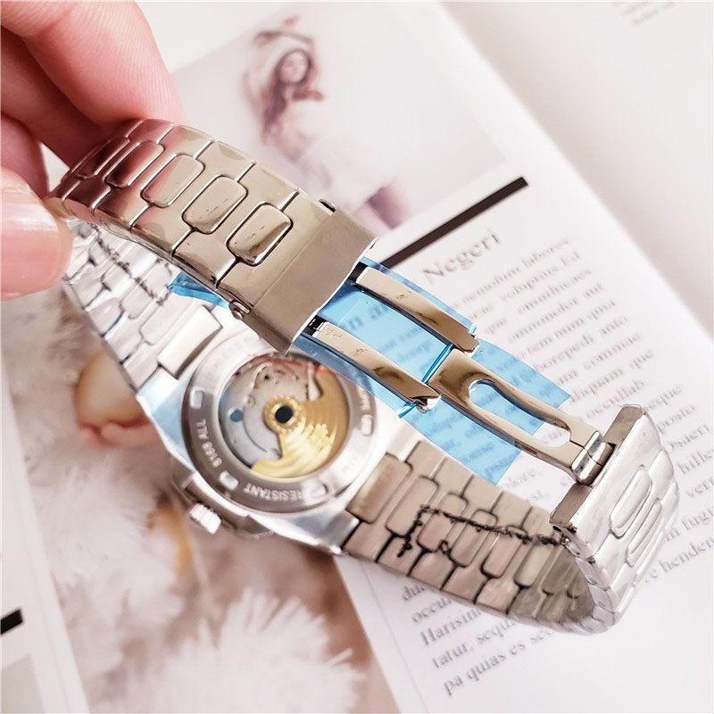 Donne di moda in acciaio inox di lusso Donna Casual Casual Uomo Mens Automatic Mechanical Movement Designer Guarda orologi da polso Orologi di moda