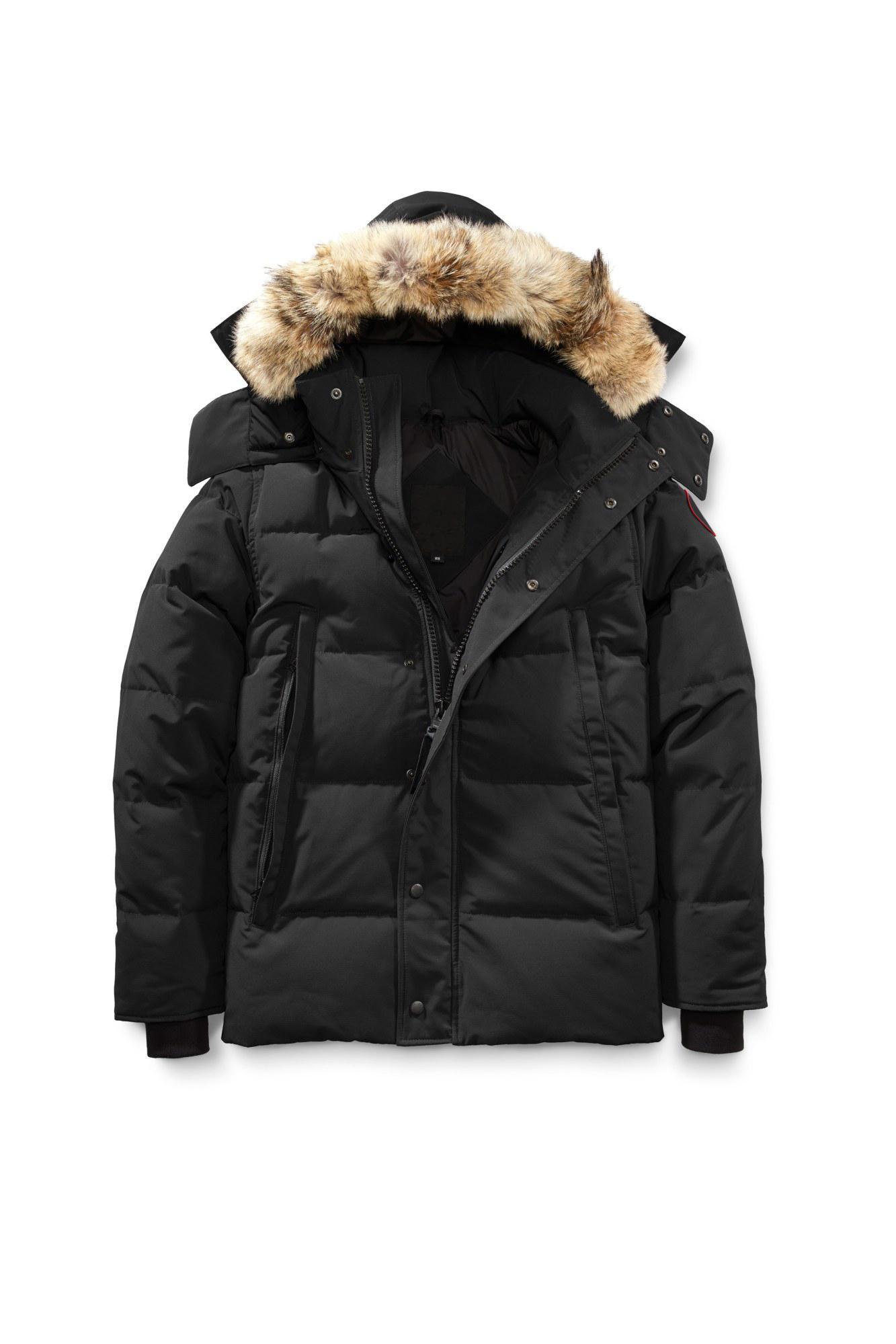 Tasarımcı Giyim Aşağı Ceket Erkekler Kadınlar Için Beyaz Ördek Woft Kürk Kapüşonlu Kış Coat Rüzgarlık Kirpi Parkas Eşofman