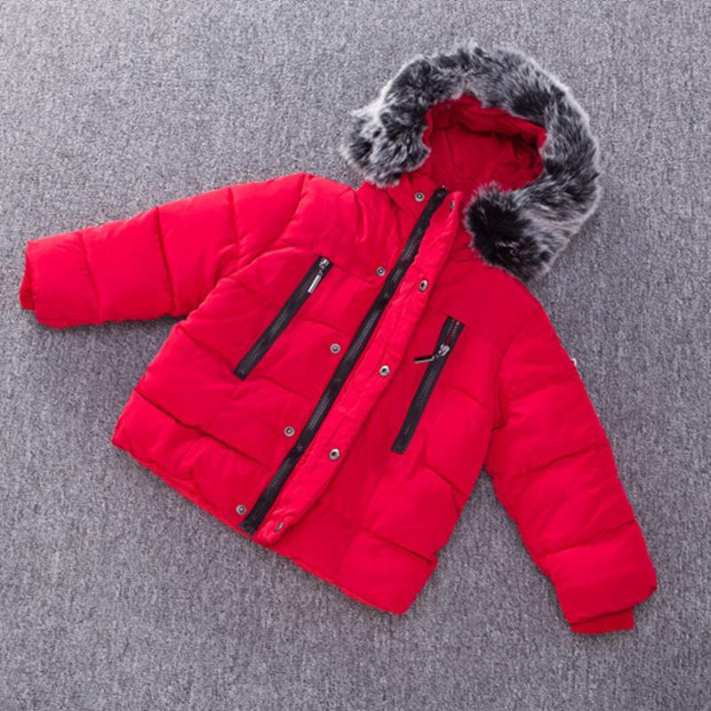 Hot Boys Зимнее пальто Детские парки с капюшоном с капюшоном сплошной цвет рукой заправленное хлопок пальто малыш девушка зимнее пальто унисекс 201127