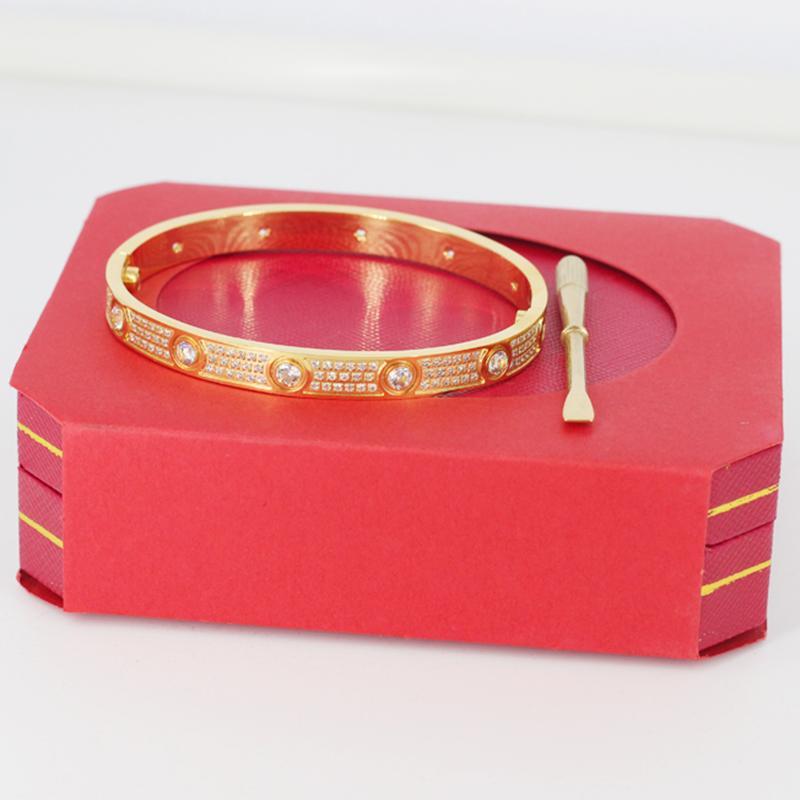 Hohe Qualität Armbänder Rose Gold Bangle Herren Womens Damen Diamanten Euro Out Silber Designer Frauen Party Geschenk Armband Schmuck