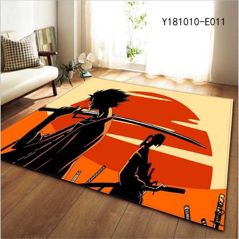 AOVOLL Area Rug for Living Room Japanese Anime Character Pattern Carpet Bedroom Rugs Creative Floor Mats Modern Kids Decor Boy