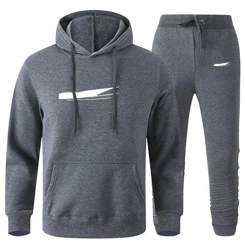 Ceket Tasarımcı Eşofman Moda Erkek Giyim 2 Parça Set Teknoloji Polar Hoodie + Pantolon Kazak Basketbol Spor Koşu Suit S-3XL