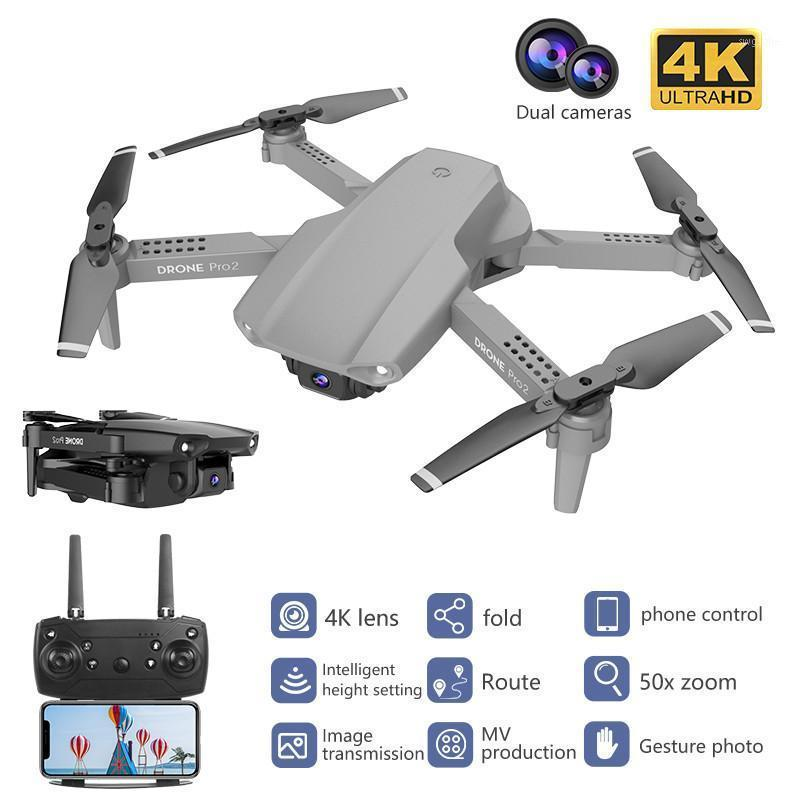 NEUE E99 PRO DRONE 4K Optical Flow Quadrocopter mit Dualkameras Faltbar RC Dron Smart Folgen Sie mir Super Wide Winkel Camera1