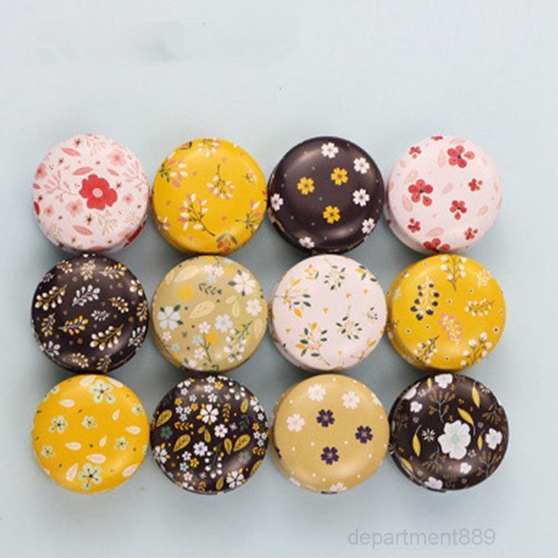Blechblech-Glas leerer Zinn kann Donut Metall handgefertigte Aroma-Kerze machen Zubehör Mini-Box mit Deckel kleiner Wohnkultur OWA2293