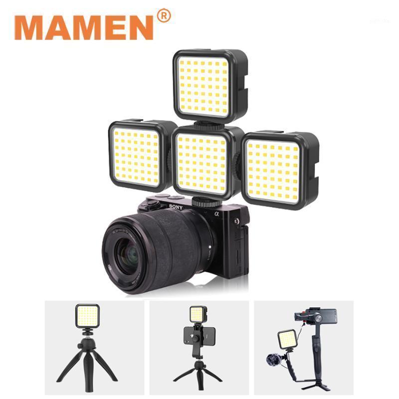 Flash Heads Mamen 5500K Mini LED Video Unch Light com 49 pcs LEDs Montagem de sapato frio para câmera smartphone Selfie Vlog Pography Lighting1