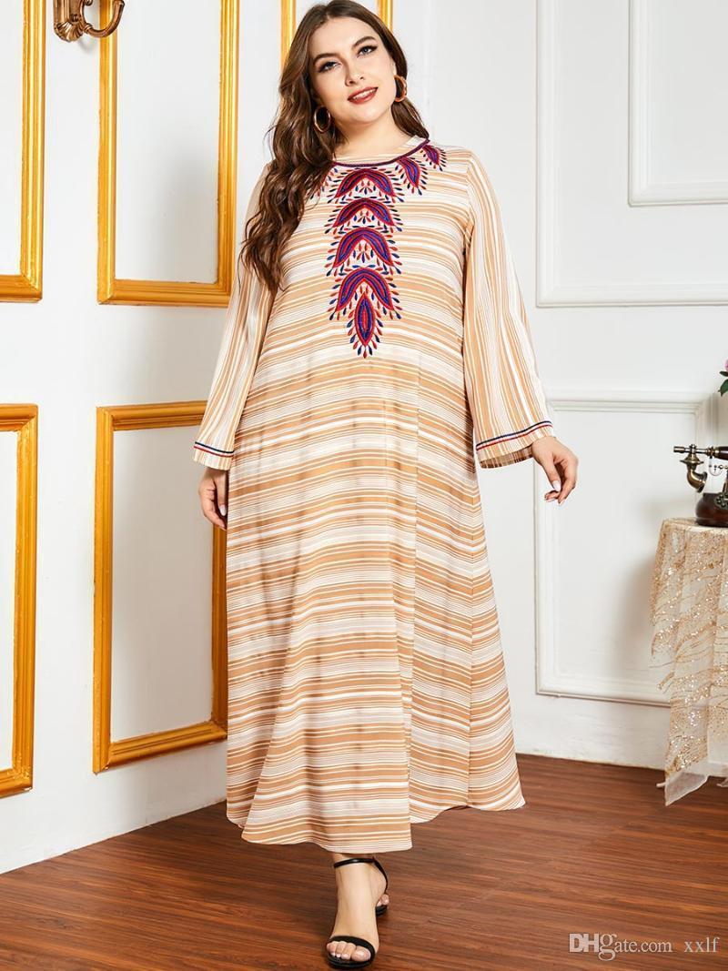 Farbe Abaya plus Größe Türkei Design Muslimische Frauenkleid