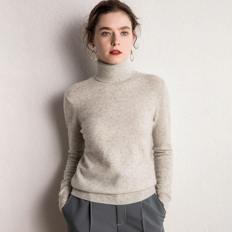 Женские свитеры 2021 100% кашемировая водолазка вязание вязание пуловер мода цвета мягкая пряжа базовый чистый джемпер тренда бренда свитер