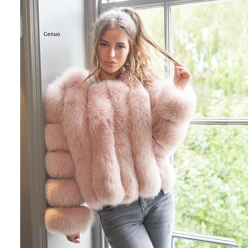 Mujeres Costo Completo Pelt Faux Piel Cálida abrigo Corto Winter Winter Chaqueta de piel Fallo Outerwear Outerwear Luxury Fluffy Abrigos para Femme1