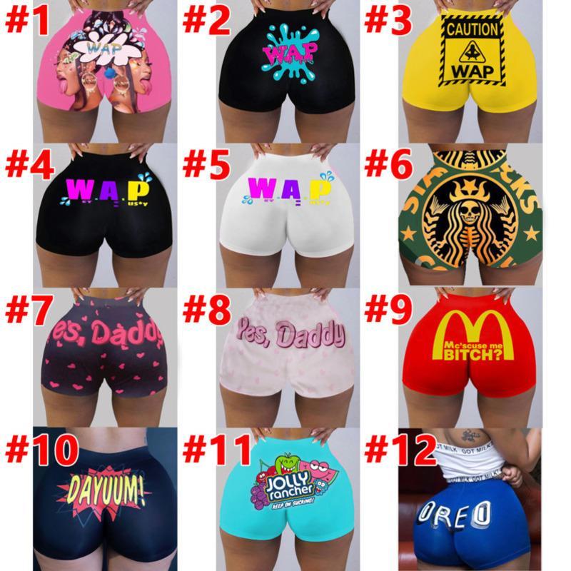 Kadın Kısa Pantolon Seksi Sıkı Kişiselleştirin Desen Baskılı Yoga Pantolon Bayanlar Knickers Breechcloth Moda Külot Yeni 2021