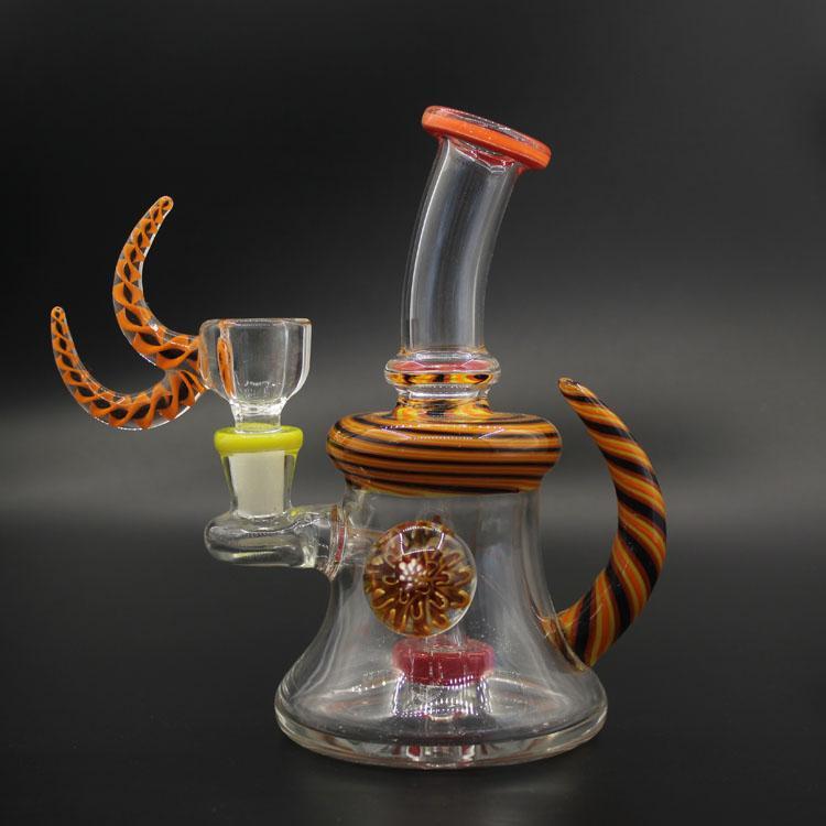 serbest çifte kanca kase ücretsiz gönderim Shisha Cam bonglar glas petrol kulesi çift fonksiyonu Su Boruları kolay kullanım llglass Güzel beher