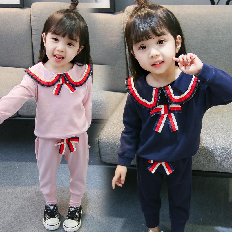 Neue Designer Marke Baby Herbst Kleidung Set Kinder Jungen Mädchen Langarm Top + Hosen 2 Stück Anzüge Mode Trainingsanzug Outfits