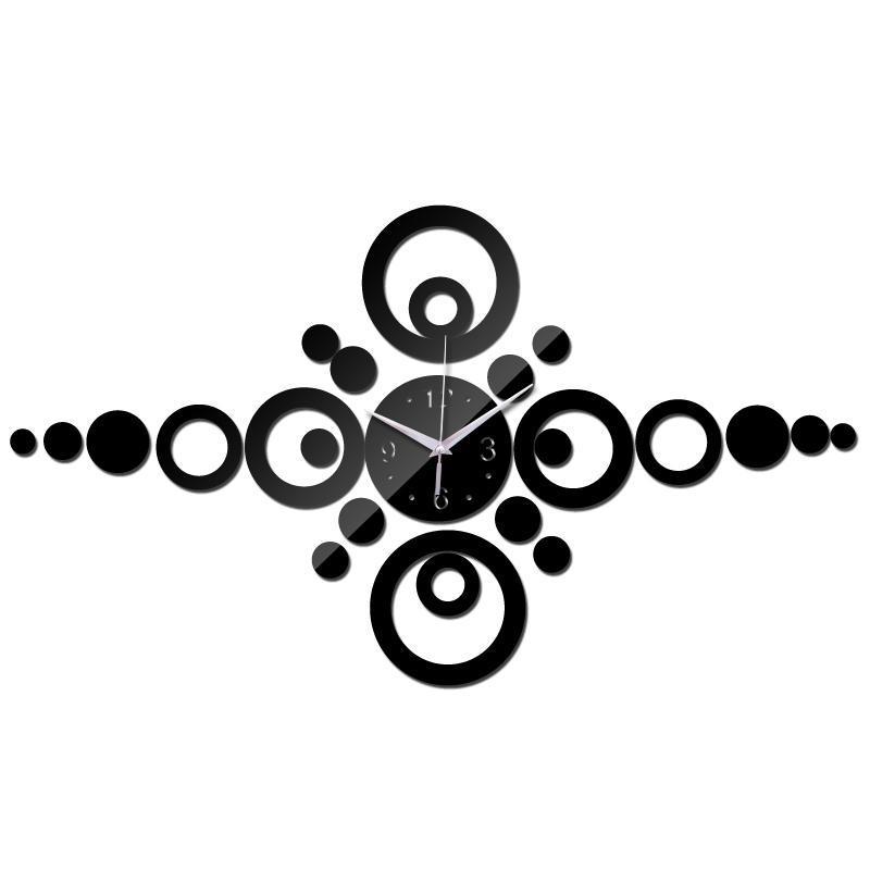 Offerta Speciale Moderno Design Specchio Muro Acrilico orologio 3D orologio al quarzo soggiorno home decor fai da te adesivo murale