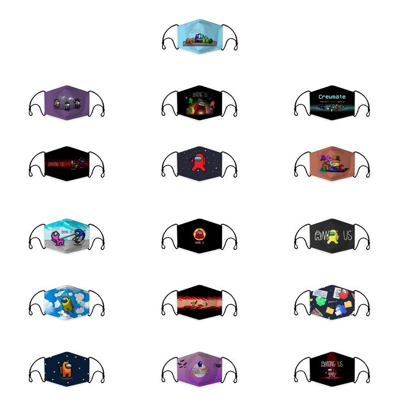 among us face mask designer game masks cartoon adult dust pm2.5 mask soft breathable print black mask