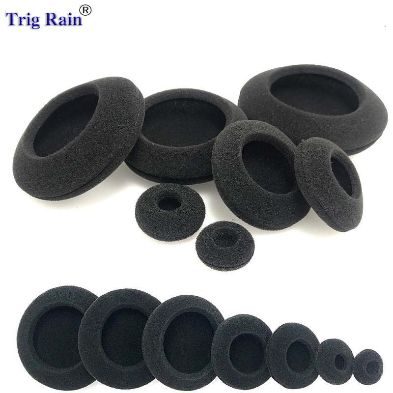 رغوة الأذن وسادات ثخن الإسفنج وسائد استبدال أغطية سماعات للسماعات 35MM 40MM 50MM 55MM 60MM 70MM 80mm وحماية