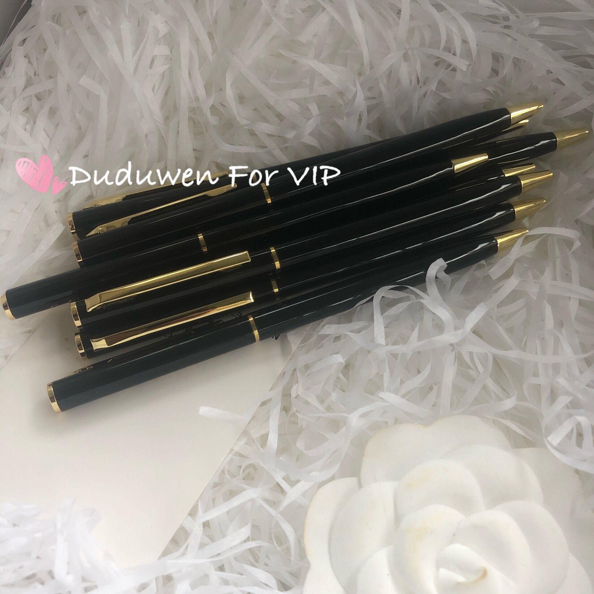 Klassische Metall Laser Buchstaben Kugelschreiber Buchstaben Mode Mode Stift Viped Souvenir Kollektion Schreibwaren für Süchtige Kollektion für Büro
